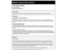 Irish Literature Alive Lesson Plan