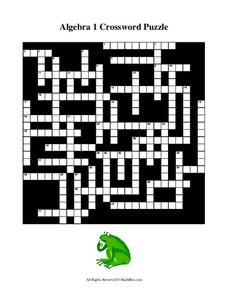 algebra 1 crossword puzzle Algebra 1 Crossword Puzzle Worksheet for 8th - 10th Grade | Lesson ...