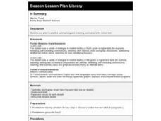 In Summary Lesson Plan