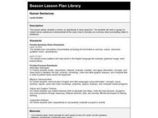 Human Sentences Lesson Plan