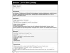 Hello, Santa! Lesson Plan