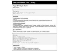 Happy Birthday to Them! Lesson Plan