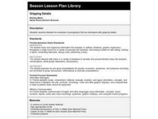 Gripping Details Lesson Plan