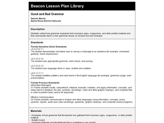 Grandparents' Day Celebration Lesson Plan