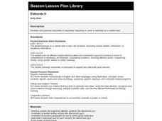 Elaborate It Lesson Plan