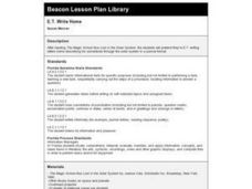 E.T. Write Home Lesson Plan