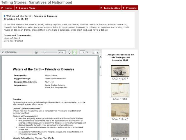 Waters of the Earth - Friends or Enemies Lesson Plan