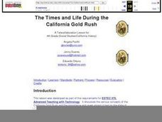 The Times and Life During the California Gold Rush Lesson Plan