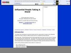 Influential People Taking A Stand Lesson Plan