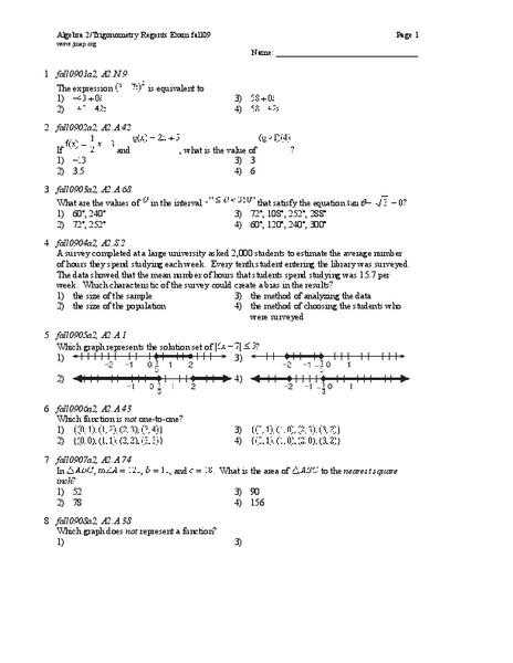 algebra 2 trigonometry regents exam lesson plan for 11th 12th grade lesson planet. Black Bedroom Furniture Sets. Home Design Ideas