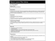 Do They Agree? Lesson Plan