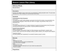Delicious Words Lesson Plan