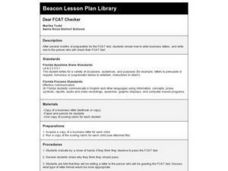 Dear FCAT Checker Lesson Plan