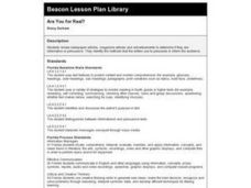 Are You For Real? Lesson Plan