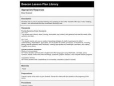 Appropriate Responses Lesson Plan