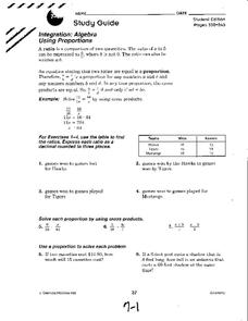 Algebra Using Proportions Worksheet