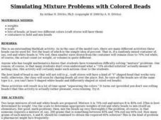 Simulating Mixture Problems with Colored Beads Lesson Plan