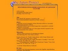 WESTERNIZATION/AMERICANIZATION OF JAPANESE CULTURE Lesson Plan