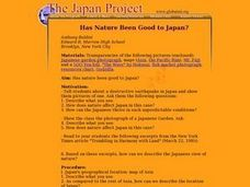 Has Nature Been Good to Japan? Lesson Plan