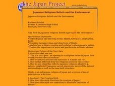 Japanese Religious Beliefs and the Environment Lesson Plan