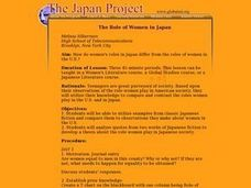 The Role of Women in Japan Lesson Plan