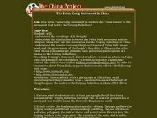The Falun Gong Movement in China Lesson Plan