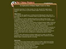 An Exploration of Human Rights Issues in China Lesson Plan