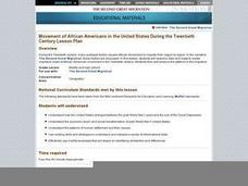 Movement of African Americans in the United States During the Twentieth Century Lesson Plan