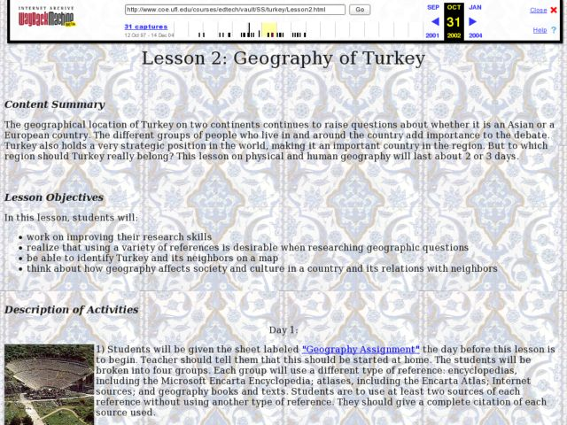 Geography of Turkey Lesson Plan