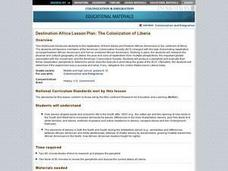 Destination Africa Lesson Plan:  The Colonization of Liberia Lesson Plan
