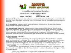 Lesson Plan on Australian Aborigines Lesson Plan