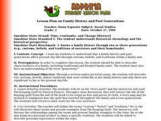 Lesson Plan on Family History and Past Generations Lesson Plan