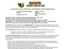 Lesson Plan on the Mayflower, the Pilgrims and the Wampanoag Lesson Plan