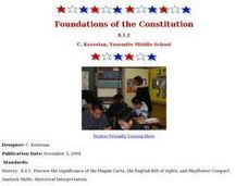 Foundations of the Constitution Lesson Plan