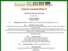 Career Awareness Program Lesson Plan