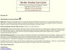 Border News in the Media Lesson Plan