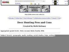 Deer Hunting Pros and Cons Lesson Plan
