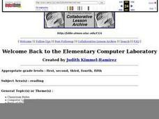 Welcome Back to the Computer Lab: Starting a New School Year Lesson Plan