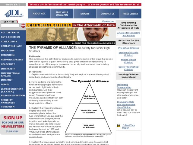 The Pyramid of Alliance Lesson Plan