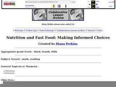 Nutrition and Fast Food:  Making Informed Choices Lesson Plan