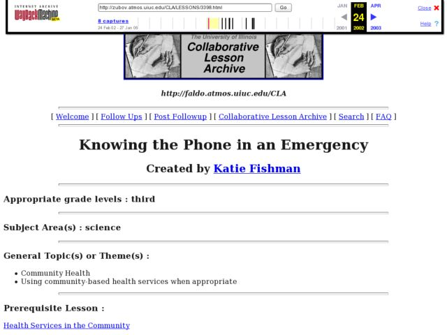 Knowing the Phone in an Emergency Lesson Plan
