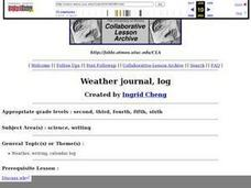 Weather Journal Log Lesson Plan