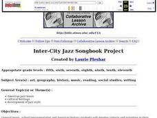 Inter-City Jazz Songbook Project Lesson Plan