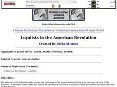 Loyalists in the American Revolution Lesson Plan