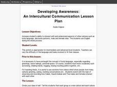 Developing Awareness:  An Intercultural Communication Lesson Plan Lesson Plan