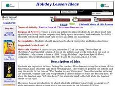 Twelve Days of Christmas Dancercise Lesson Plan