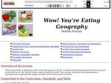 Wow! You're Eating Geography Lesson Plan