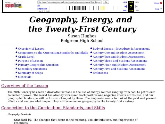 Geography, Energy, and the Twenty-First Century Lesson Plan