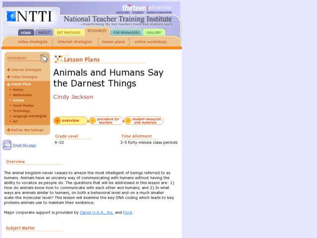 Animals and Humans Say the Darnedest Things Lesson Plan
