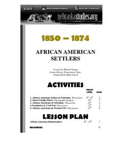 AFRICAN-AMERICAN HOMESTEADERS Lesson Plan